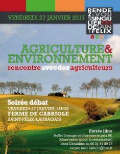 Soirée débat agriculture et environnement