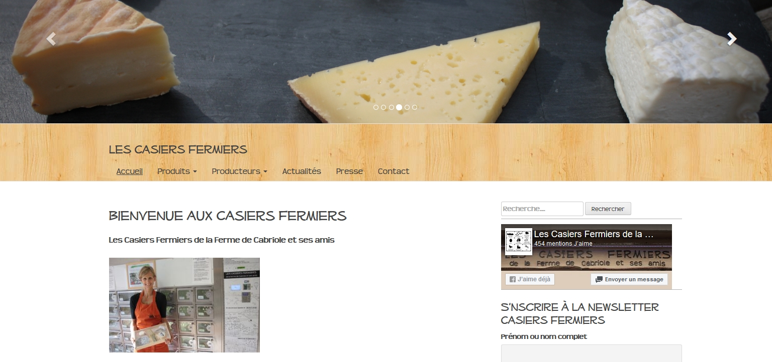Site Les Casiers Fermiers